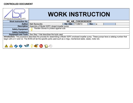 SSPC Assembly Instructions